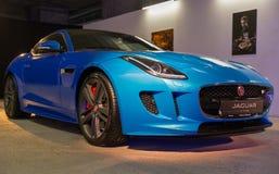Utställning med Jaguar F-TYPE i Kiev, Ukraina Arkivbilder