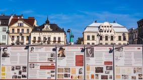 Utställning på den huvudsakliga marknaden royaltyfri foto
