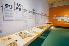 Utställning på det finlandssvenska designmuseet (Designmuseo) i Helsink Royaltyfria Bilder