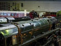 Utställningar i det nationella järnväg museet i York, Yorkshire England Royaltyfri Fotografi