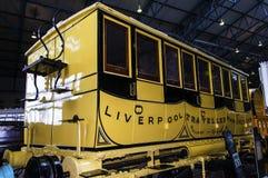 Utställningar i det nationella järnväg museet i York, Yorkshire England Arkivfoton