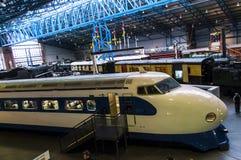 Utställningar i det nationella järnväg museet i York, Yorkshire England Arkivbilder