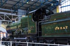 Utställningar i det nationella järnväg museet i York, Yorkshire England Arkivbild