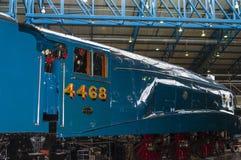 Utställningar i det nationella järnväg museet i York, Yorkshire England Royaltyfria Bilder