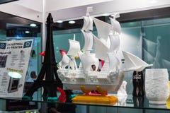 Utställningar och objekt på skärm Arkivbild