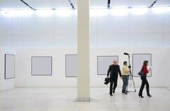 utställningjournalister Arkivbilder