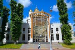 Utställningmitt på domkyrkan av Kristus frälsaren i Kaliningrad Royaltyfria Foton