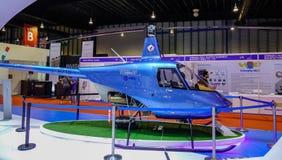 Utställningmodellflygplan i Singapore arkivbild