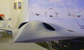 Utställningmodellflygplan i Singapore royaltyfri bild