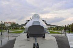Utställningsflygplan i Victory Park, Kazan Arkivfoto