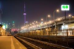 Utställningstället går drevstationen Toronto arkivbilder