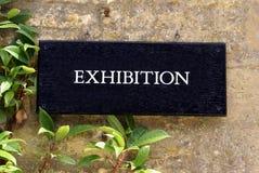 Utställningtecken royaltyfri foto