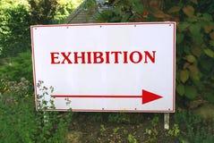 Utställningtecken royaltyfria foton