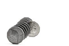 Utstående mynt Royaltyfria Foton