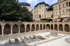 Utst?llningar av det frilufts- museet i den gamla staden av Icheri Sheher royaltyfria bilder