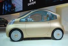 utställning nissan för bilbilbegrepp Arkivbild