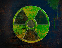 Utstrålning symbol som är kärn- Arkivbild