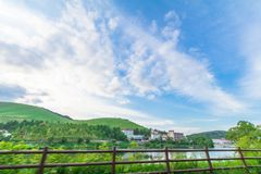 Utsukushigahara公园美好的风景视图是一个  库存图片