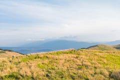 Utsukushigahara公园美好的风景视图有天空ba的 图库摄影
