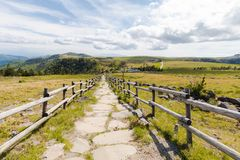 Utsukushigahara公园美好的风景路视图是一个 免版税库存图片