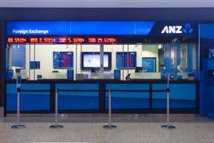 Uttag för valutautbyte på den Melbourne flygplatsen arkivbild