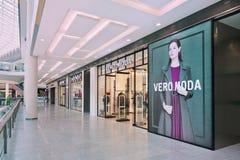 Uttag för VERO MODO i den Livat shoppinggallerian, Peking, Kina Arkivfoton