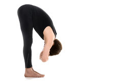Uttanasana, Elbow Grab Royalty Free Stock Photos