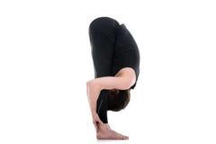 Uttanasana, intense stretch yoga pose Royalty Free Stock Image