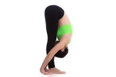Uttanasana, intense stretch yoga pose Stock Image