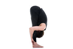 Uttanasana, posa intensa di yoga di allungamento Immagine Stock Libera da Diritti