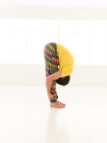 Uttanasana yoga pose Royalty Free Stock Images
