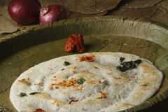 Uttapam is a dosa-like pancake from India Stock Photos