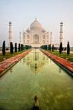 uttar阿格拉印度mahal pradesh日落的taj 免版税图库摄影