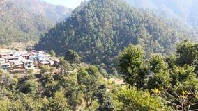 uttarakhand印度村庄视图  免版税图库摄影
