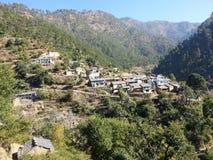 Uttarakhand印度村庄 图库摄影