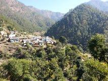 Uttarakhand印度村庄  库存图片