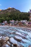 Ganga River in Gangotri royalty free stock photo