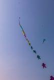 Uttarayan节日在古杰雷特,印度 库存图片