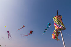 Uttarayan节日在古杰雷特,印度 库存照片