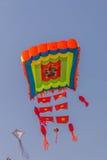 Uttarayan节日在古杰雷特,印度 免版税库存图片