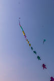 Uttarayan festival i Gujarat, Indien Fotografering för Bildbyråer