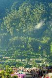 Uttarkashi Town in Uttarakhand, India. This is photograph of Uttarkashi Town, a district capital, in Uttarakhand, India. The town in located in a valley in Stock Photography