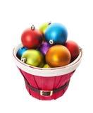 Utåtbuktad korg av bollar med den snabba banan Royaltyfria Foton
