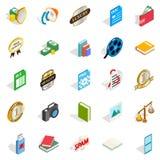 Utter icons set, isometric style Stock Image