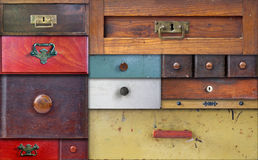 In utter secrecy - various drawers Stock Photo