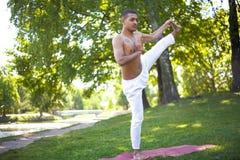 Utthita Hasta Padangushthasana Yoga Pose Royalty Free Stock Images