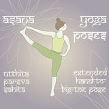 Utthita Parsva Sahita 延长的手对大脚趾姿势 免版税库存照片