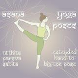 Utthita Parsva Sahita Pose prolongée de Main-À-Grand-orteil Photos libres de droits