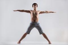 Utthita Tadasana yoga pose Stock Image
