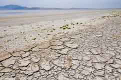 Uttorkning Great Salt Lake Arkivfoto